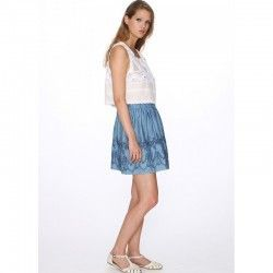Falda Denim Embroidery pepa loves OUTLET